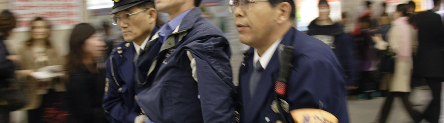 Arrest at Shinjuku Station